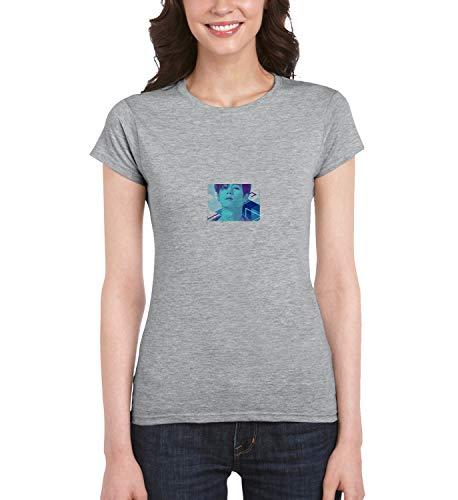 Kpop Mark Singer Got7_MRZ5604 - Camiseta para mujer, 100% algodón, para verano, regalo, casual mujer - gris - X-Large
