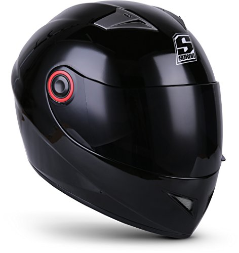 "SOXON® ST-666 ""Shiny Night"" · Integral-Helm · Full-Face Motorrad-Helm Roller-Helm Scooter-Helm Cruiser Sturz-Helm StreetFighter-Helm Sport MTB · ECE 22.05 Visier Schnellverschluss Tasche XS (53-54cm)"