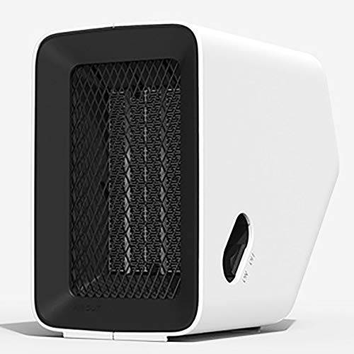 TTZZ 500W Electric Ceramic Heater Fast Heating Adjustable Thermostat Safe Overheating and Tip-Over Protection Energy Efficient, Small Portable Space Heater for Indoor Use Home Office,White