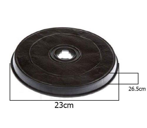 Filter Dunstabzugshaube Whirlpool de Dietrich Aktivkohle H 26,5mm Ø 23.2F 38