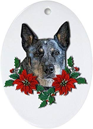 Blue Heeler Christmas Ornament Oval Ceramic Christmas Ornaments for Christmas Tree Decoration Novelty Gifts for Family Friends Christmas New Year Gifts 3'