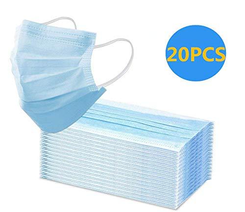 20PCS dreilagige Einweg-Vliesmasken, zivile dreischichtige Tagesmasken, chirurgische Einwegmasken, zivile Kosmetikmasken, Umweltschutz, staubdicht, geruchlos.