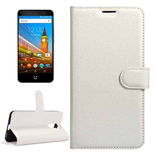 A+Xu Jie For Wileyfox Swift 2 & Wileyfox Swift 2 Plus (5.0) Litchi Texture Horizontal Flip Leather Case with Magnetic Buckle & Holder & Card Slots & Wallet (Color : White)