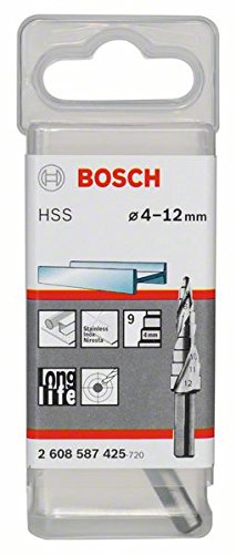 Bosch 2 608 587 425 - Broca escalonada HSS - 4-12 mm,...