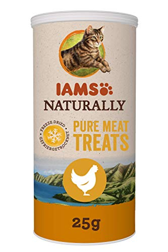 IAMS Naturally 100% Pure Meat Treats for Cats, Chicken 25 g