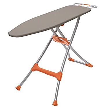Homz Durabilt DX1500 Premium Steel Top Ironing Board with Wide Leg Stability, Adjustable up to 39.5
