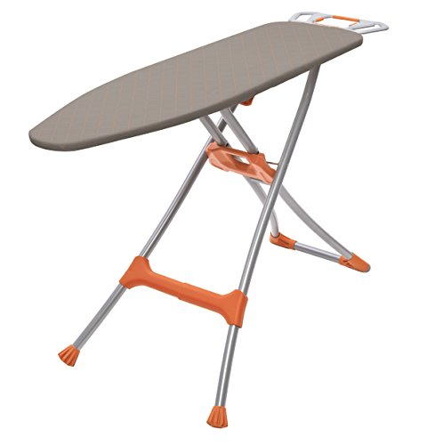 Homz Durabilt DX1500 Premium Steel Top Ironing Board with Wide Leg Stability, Adjustable up to 39.5'
