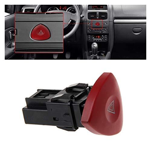 GUANGGUANG Heartwarming Shop Peligro de Emergencia Flasher Advertencia Interruptor de luz FIT para Renault Laguna Master TRAFIC II Vauxhall