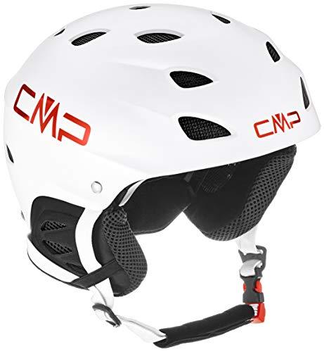 CMP XJ-3 Kids Ski Helmet, Casco da Sci Unisex Bambino, Bianco, S