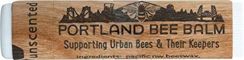 Portland Bee Balm Natural Handmade Beeswax Based Lip Balm, Unscented Single Tube