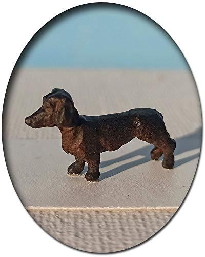 Dackel Hund, Modellbahnfigur handbemalt, Spur 0 (Null), 1:45