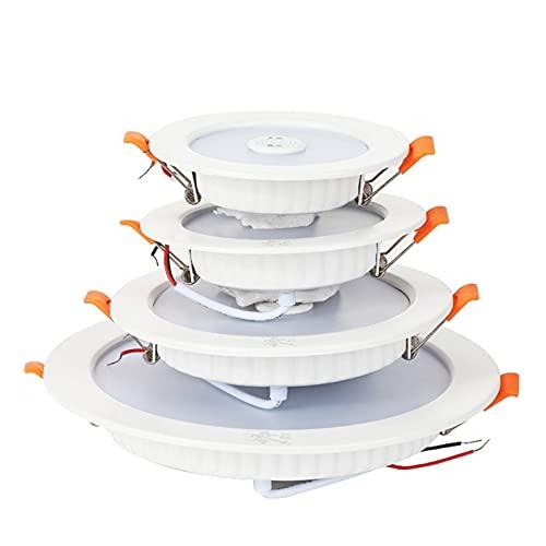 JUNQIAOMY Downlight LED Downlight Smart Infrared Inducción LED Luz de Techo 3W 5W 9W 18W 220V Sensor de Movimiento Instalación de la luz Redonda del Panel LED