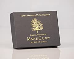 1 LB Pure Maple Candy- Made of 100% Certified Organic Pure Maple Syrup! Only One Ingredient: The finest Organic Pure Vermont Maple Syrup Crystal Coated with Pure Maple to Lock in the Freshness Produced daily for fresh Amazon Prime and Merchant Fulfil...