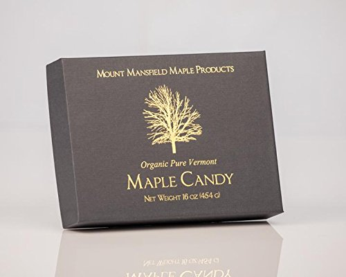 Mount Mansfield Maple Certified Organic Pure Vermont Maple Candy (1 Pound)