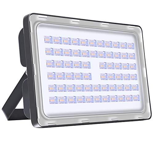 LED Strahler Außen 200W LED Beleuchtung 14000LM LED Lampe Scheinwerfer 2800K-3200K Warmweiß IP65 Wasserdicht LED Strahler Außen für Hof Garten, Garage, Werbetafeln, Stadien, Plätze, Fabriken