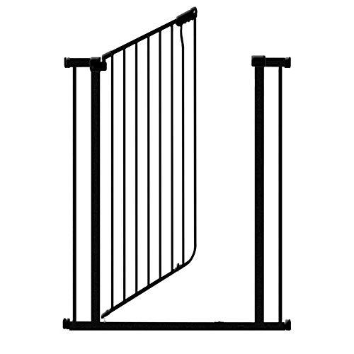 LLA Pet Gate Portail pour Animaux de Compagnie très Haut, 100 cm de Large, avec Petite Porte, Comprend Un kit de Montage sous Pression de 4 pièces, pour escaliers, entrées de Porte et Rampe (Noir)