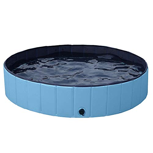 Yaheetech Hundepool, Doggy Pool, Katzenpool, Faltbares Pool, Hundebadewanne PVC-rutschfest 140X30 cm
