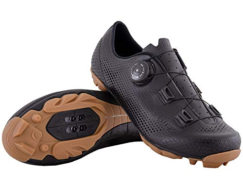 LUCK Limited | Zapatillas Ciclismo MTB Hombre Mujer Niños | Zapatos MTB Ciclismo Montaña BTT | Suela Carbono | Cierre Rotativo | Calzado Bicicleta MTB (Negro, Numeric_43)