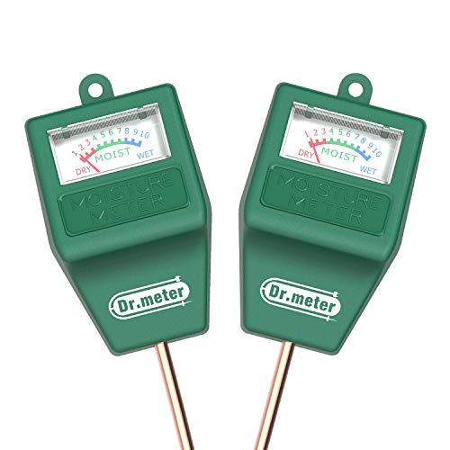 Soil Moisture Meter-2 Packs Soil Test Kit for Garden Lawn Farm Indoor & Outdoor Use-Dr.meter Moisture Meter for Plants-Soil Tester Hygrometer Sensor for Plant Care-Plant Water Meter-No Battery Needed