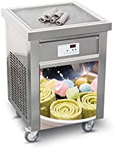 Kolice fast food snack food equipment ETL 110V single 52 * 52cm square pan instant fried ice cream machine fry ice cream machine roll ice cream machine ice cream rolled machine auto defrost