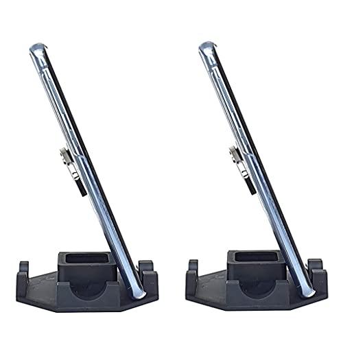 Kit com 2 Suporte Genial de Mesa para Celular ou Mini Tablet Serve em todos os aparelhos iPhone Samsung Motorola LG e outros Modelo Octagonal Preto