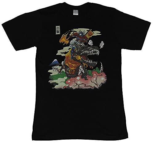 Transformers Mens T-Shirt - Samurai Style Otimus Prime Riding Grimlock Image Black m