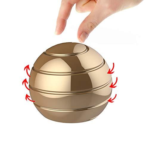 Manzelun Kinetic Desk Toys,Full Body Optical Illusion Fidget Spinner Ball,Gifts for Men,Women,Kids Size 2.1'