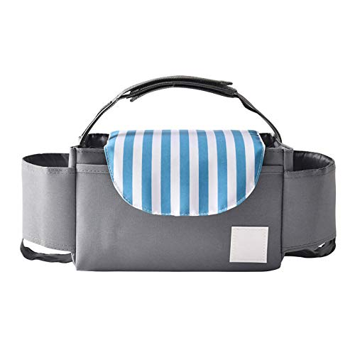 Baby Stroller Storage Bag Buggy Organiser Large Capacity Pushchair Bag for Baby Pram Accessories with 2 Bottle Holders Universal Fit All Buggy Models