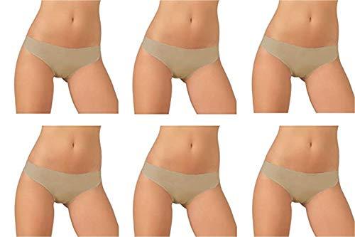 JADEA 6 Slip Donna Taglio Laser in Cotone Senza Cuciture Art. 8000 (4, Skin)