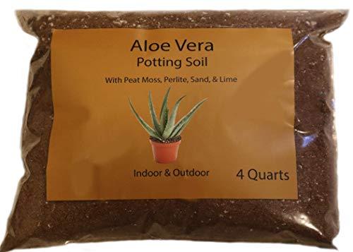 Aloe Vera Soil Mix/Aloe Vera Potting Soil/Hand Blended Aloe Vera Soil (4 Quarts)