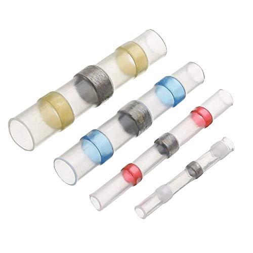 WFBD-CN Batterieklemmen Wärmeschrumpf Hintern Wasserdicht Solder Seal Sleeves Draht Stecker Elektrische Kabel Splice verzinnte Anschlüsse 26-10AWG (Color : Blue 16 14AWG, Pins : 30pcs)