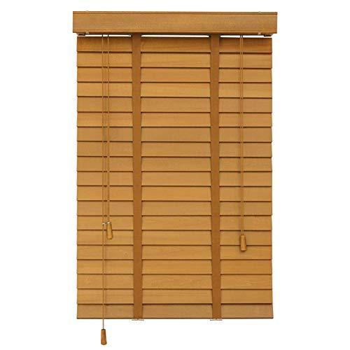 Jalousien 60 cm/80 cm/100 cm/120 cm/140 cm Breite Holz für Fenster - Einfache Innenmontage, Raumverdunkelung Mini Blind Tape 50 mm Lamellen (Größe: 100 x 140 cm)