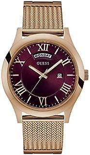 ساعة رسمية للرجال بهيكل ستانلس ستيل ومينا احمر وعرض انالوج من جيس - W0923G3