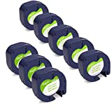 Wonfoucs Compatible Label Tape Replacement for Dymo Label Maker Refills 91330 12mm x 4m 1/2 x 13 White Paper Tape Work with DYMO LetraTag Label Makers, 8 Combo Pack
