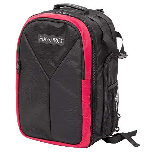 Pixapro Tragetasche, gepolsterter Rucksack, beleuchtete Tasche, geräumige große Vordertasche, gepolsterte Schultergurte, Trennwände, Reiserucksack, Fotoausrüstung (gepolsterter Rucksack)