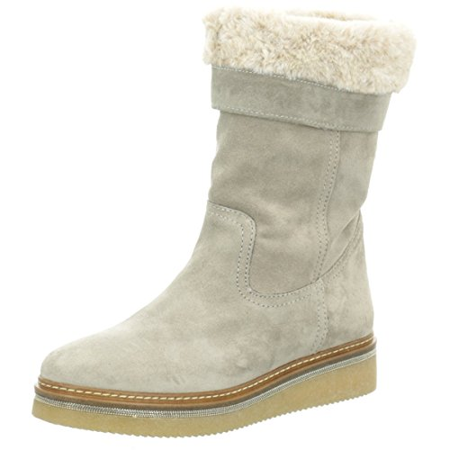 Alpe Woman Shoes Damen Sneaker Boot mit Fellbesatz 3259 1123 grau 547753