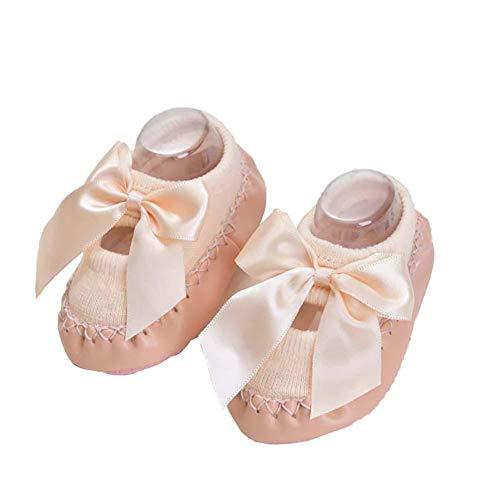 BIGBOBA Calcetines de Bebé Invierno Suaves Algodón Zapatos con Arco Suela de PU Antideslizante Casa Calcetines de Piso Para Recien Nacido Niños Niñas