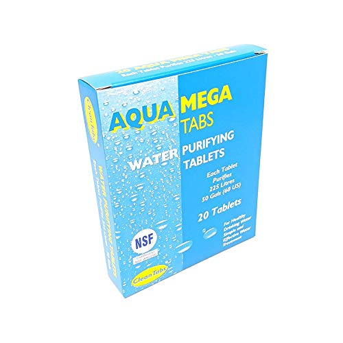 Clean Tabs 040781 Aqua Mega Water Purifying Tablets (Pack of 18) -Blue