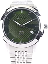 [グッチ]GUCCI Gタイムレス腕時計 YA1264108 シルバー ステンレススチール メンズ グリーン文字盤 中古