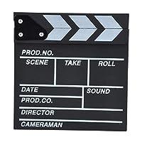Director Video Acrylic Clapboard TV Film Movie Clapper Board Slate with Color Sticks 20*20cm