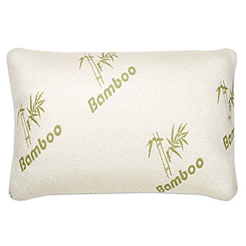 Bamboo Pillow Hollowfibre Filled, Comfort and Firm Neck Support Soft Pillow...