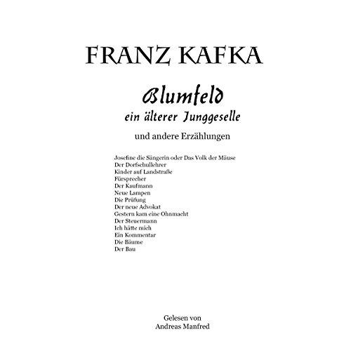 Blumfeld ein älterer Junggeselle und andere erzählungen Titelbild