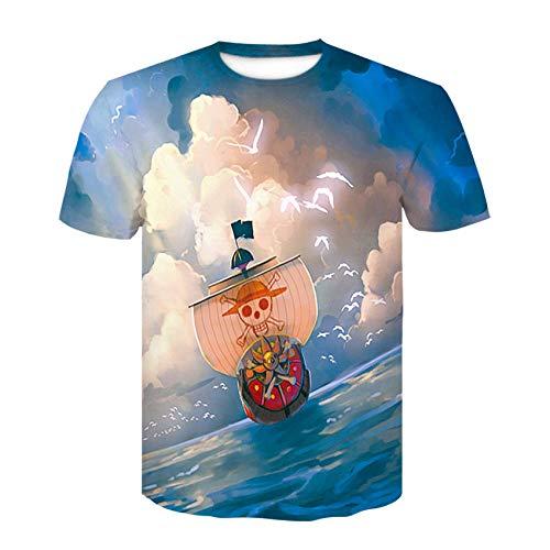 YYQX Conainer Heren 3D Graphic Print Shirts Boote Pirat Seemann T-shirt heren 3DT shirt korte mouwen ronde hals digitale print casual korte mouwen