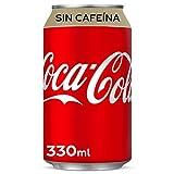 Coca-Cola - Sin Cafeina, Refresco con gas de cola, 330 ml (Pack de 12), Lata