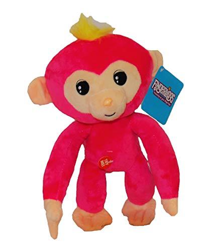 WowWee Fingerlings knuffel aap met geluid 28 cm verschillende karakters voor kinderen (Bella (roze))