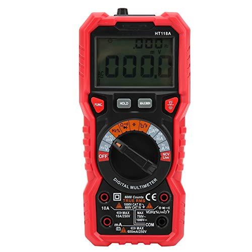 [Weihnachtsgeschenk]Spannungsprüfer, 2-Farben-Ultra-Clear, spart mehr Leistung Hochtemperatur-Widerstandsmultimeter, um Gleich- / Wechselspannung zu messen. Messen Sie Gleichstrom/Wechselstrom