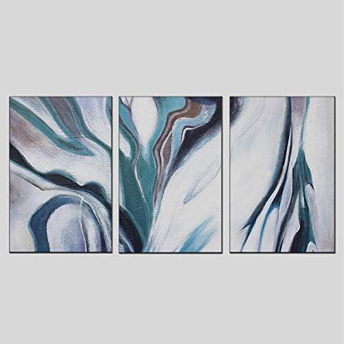 JINTAIYANG Peinture à l'huile 100% Peint à La Main Peinture à l'huile Abstraite Moderne Trois Panneau Toile Art Mur Salon Chambre Décor à La Maison