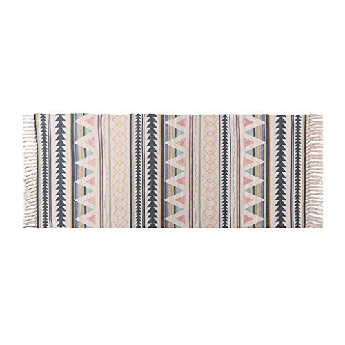 Read About CarPet Floor mat Bedroom Bedside Decoration Tassel Handmade (Size : 60130cm)