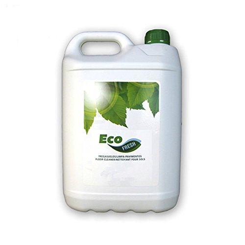 Fregasuelos Ecológico Ecofresh 5 Litros, Ecofresh se recomienda para la limpieza y abrillantado de cualquier tipo de suelo, excepto madera sin tratar y corcho. Gracias a su pH neutro no daña las superficies en la que se aplica. Contiene un perfume especialmente estudiado para permanecer más tiempo en el ambiente. Incorpora tensioactivos, IMPACTO MEDIOAMBIENTAL REDUCIDO, EN LA CONTAMINACIÓN DEL AGUA - EN LAS EMISIONES A LA ATMÓSFERA - EN LA GENERACIÓN DE RESIDUOS. CON OLOR A POMELO