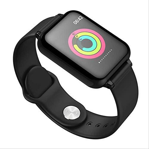 Iis Mur hanjnwi Reloj Inteligente Monitor de frecuencia cardíaca a Prueba de Agua Presión Arterial Modo Deportivo múltiple Reloj Inteligente Mujeres Hombres Usable como se Muestra Negro